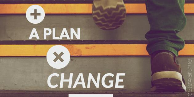 Hope plus a plan times change equals success