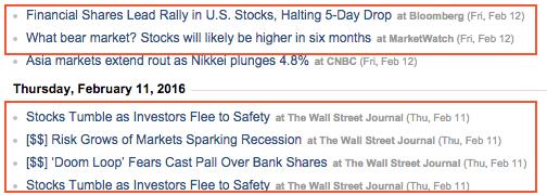 Yahoo Finance articles February 2016
