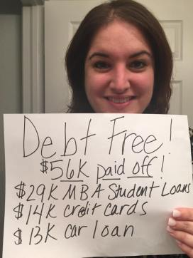 Jessica Garbarino paid off all her debt