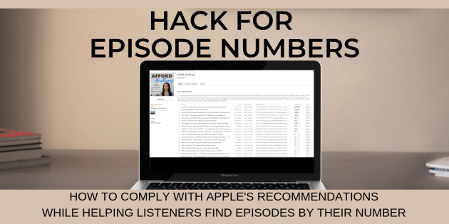itunes episode number hack