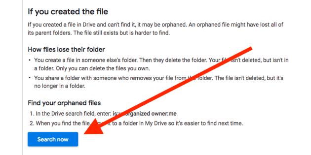 Google-Drive-Orphaned-Files