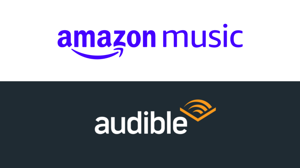 amazon music and audible logos