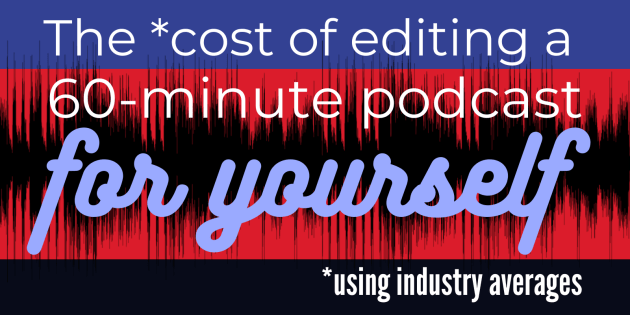 the cost of editing a podcast by myself