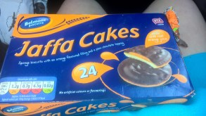 Jaffa Cakes, 0.87 euros, thank goodness for Aldi