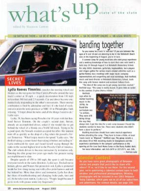 Lydia appears in Delaware Today Magazine, August 2002