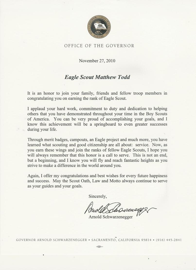 Information Playground Matthew S Eagle Application And Commendations. Congratulations Letter To An Eagle Scout ...
