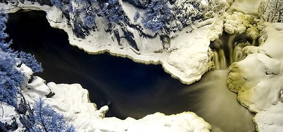 Base of Dorwin Falls – Infrared – Rawdon, Quebec