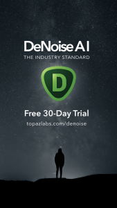 DeNoise AI is on sale from January 27 - February 12; regularly priced at $79.99, on sale for $59.99 ($20 off!)