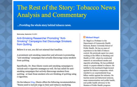 Dr Siegel's blog screenshot