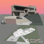 oliver house model by steve wallet architect