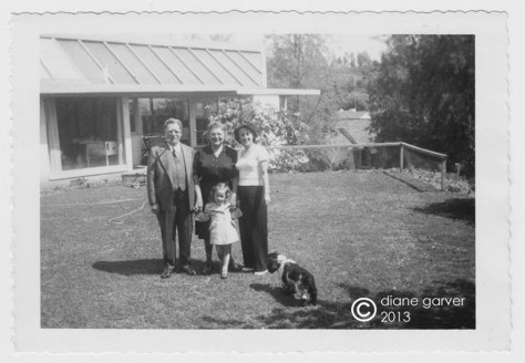 tischler house family in yard 1951