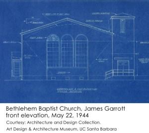James Garrott Bethlehem Baptist Church front elevation 1944-5-22