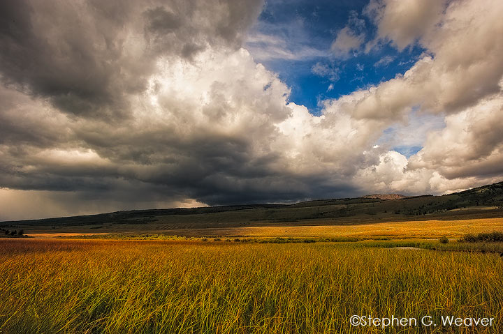 Storm clouds in the Upper Green River Valley, Wyoming