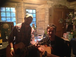 Steve Young with Crispin Hunt from the Longpigs