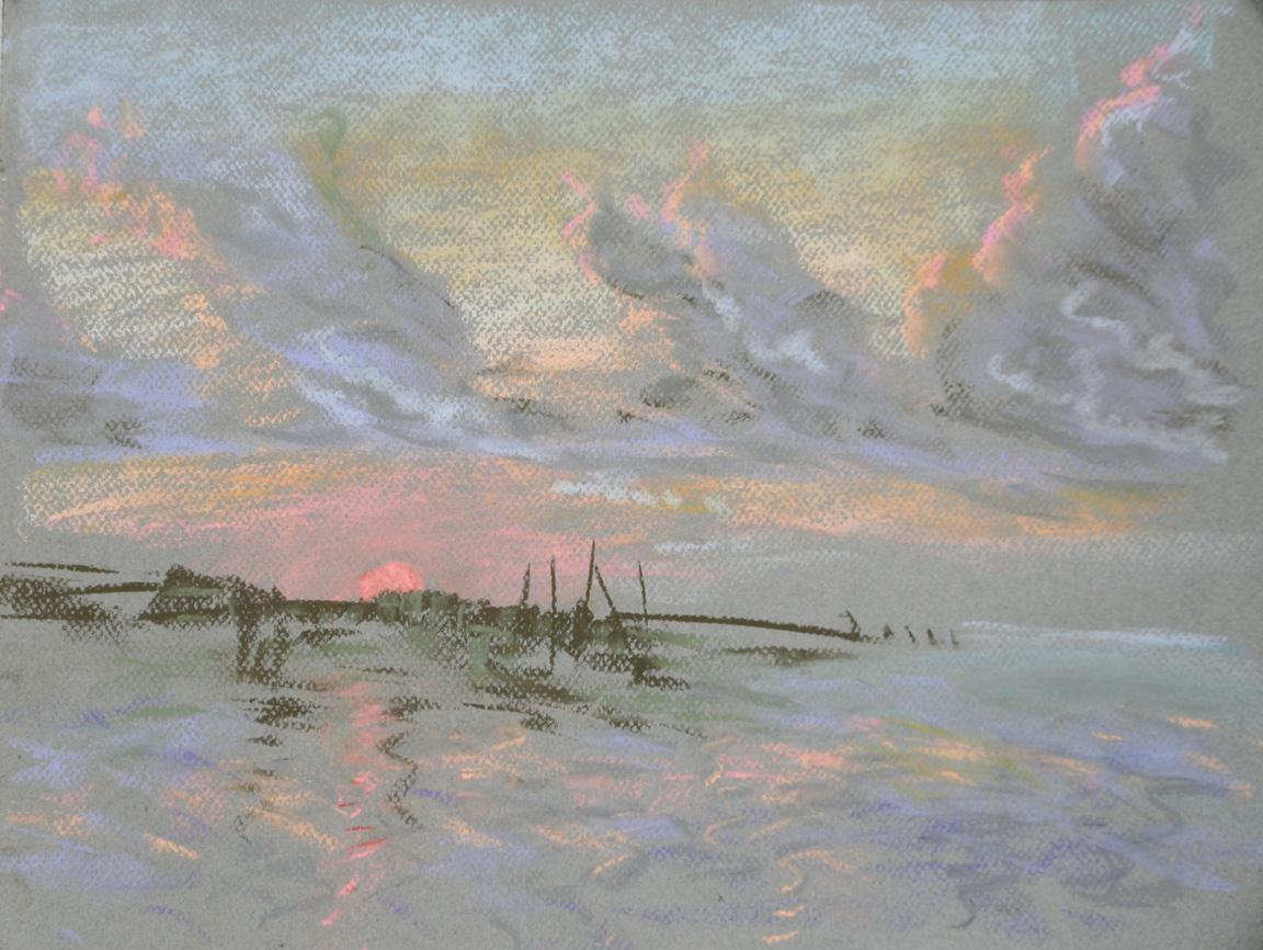 """Key West 28,"" pastel on paper, 18""X 24"" 2012"