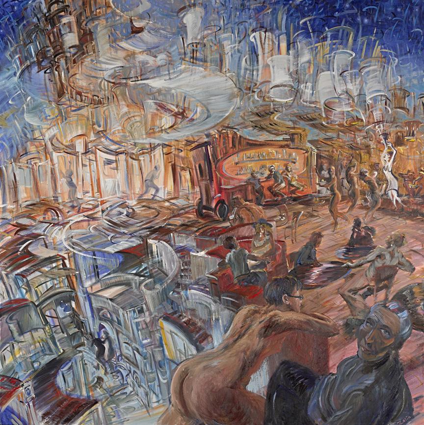 """""""The Goddess Creates,"""" oil on canvas, 72""""X 72"""" 2013"""