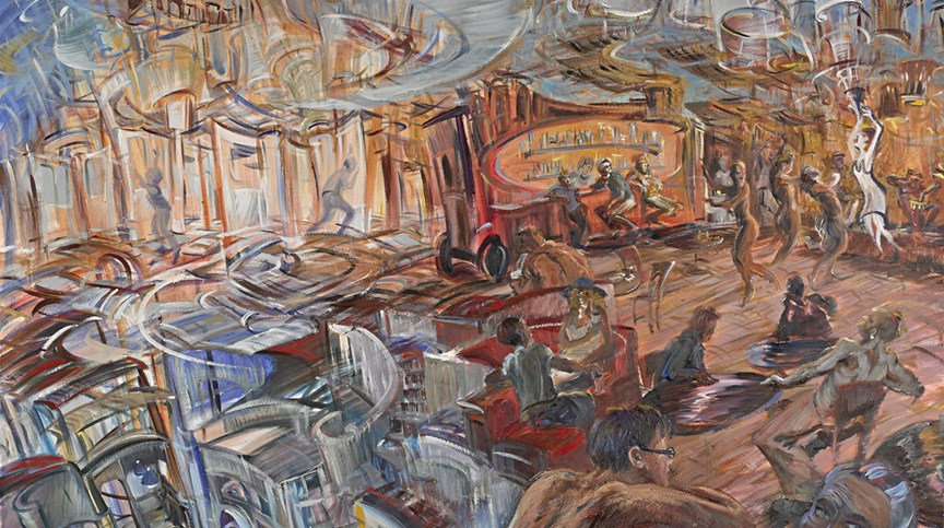 """The Goddess Creates,"" oil on canvas, 72""X 72"" 2013"