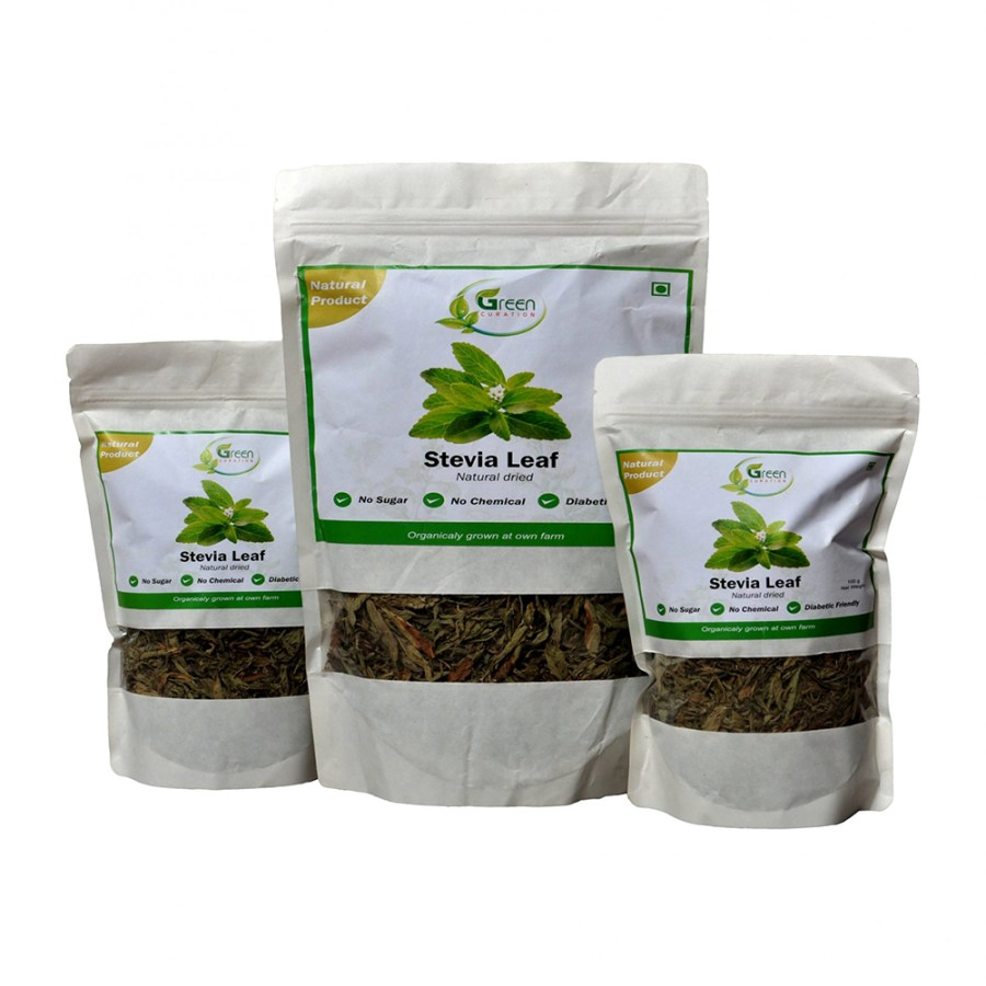 Green Curation Dried Stevia Leaves Combo - Front