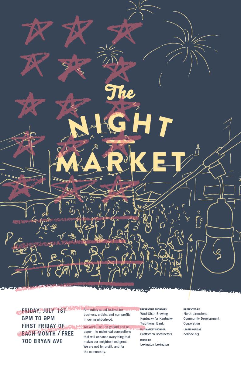 NoLi Night Market Poster Series