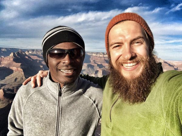 Photo of EP Shadows and Stevie Vagabond at Shoshone Point of the Grand Canyon, arizona