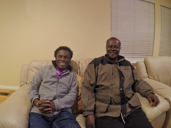 a photo of two Cameroonians in salt lake city, utah