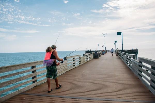 The pier on a beach in Venice florida