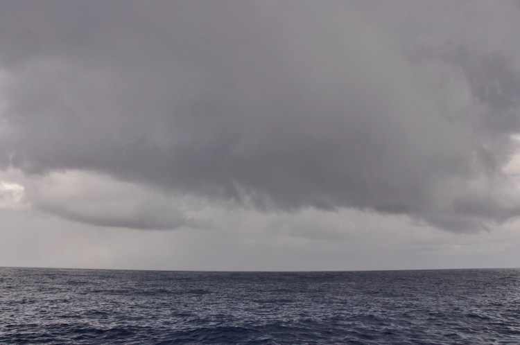 Photo of a squall in the Caribbean Sea near Panama
