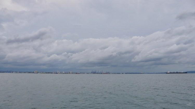 Photo of Colon, Panama from the Caribbean Sea