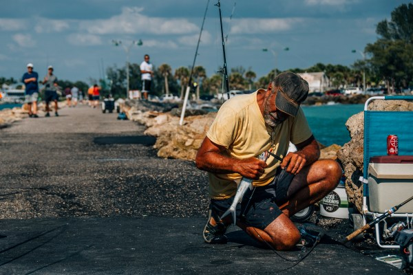 Photo of a fisherman in Venice florida