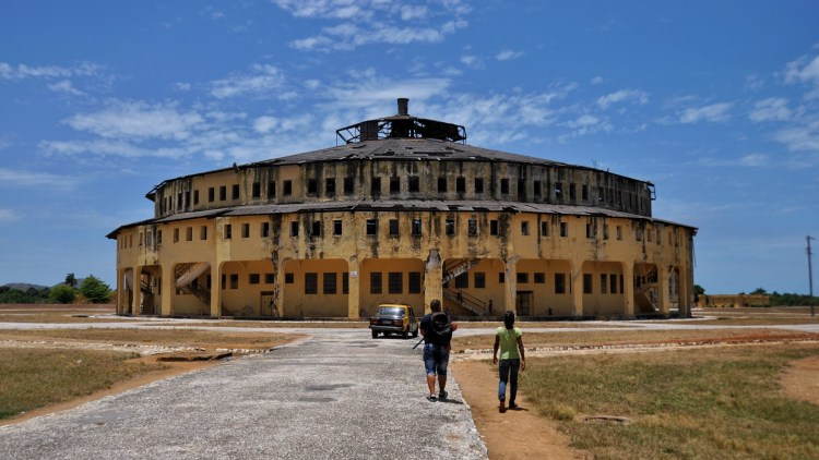 Photo of el Presidio cylindrical prison building in Nueva Gerona, Isla Juventud, Cuba