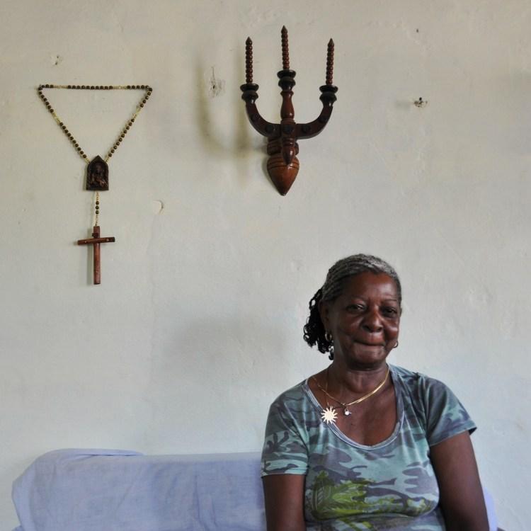 photo of a local cuban grandmother in nueva gerona, cuba by stevie vagabond