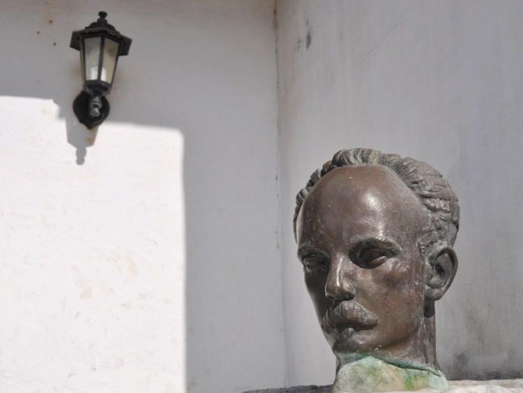 Photo of the head of Jose Marti at the Jose Marti House in Nueva Gerona, Cuba by Stevie Vagabond