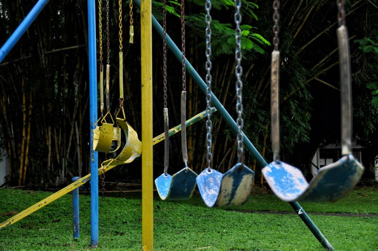 Photo of a swing set in panama
