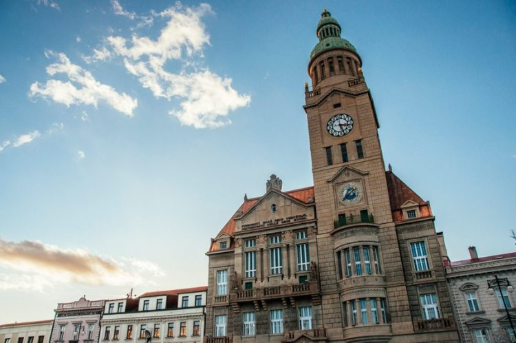 town hall in Prostejov, Czech Republic