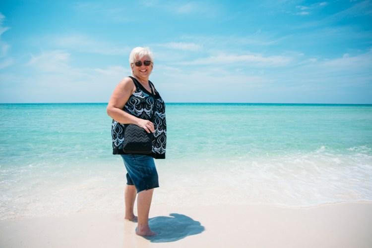 mom at pensacola beach