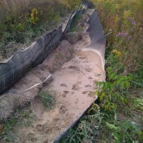 Failed silt fencing.
