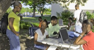UWI students using wireless network