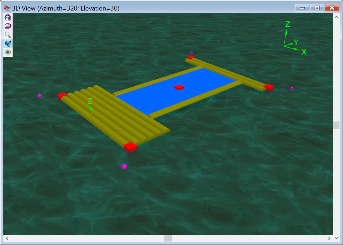 OrcaFlex Tutorial with FLUPSY Mooring Analysis Example