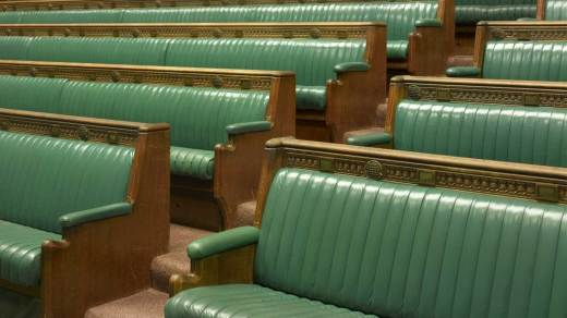 Empty House of Commons benches