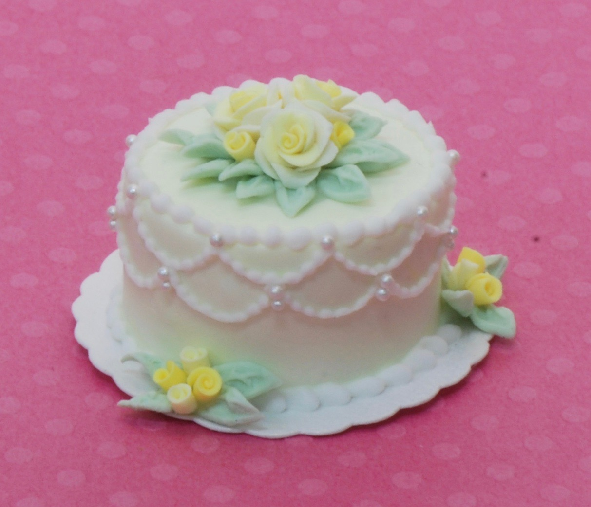 Sunflower Lady Bug Wedding Cake Stewart Dollhouse Creations