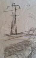 Cork Monoprint sketch, 1998, NFS