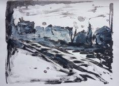 Empty Landscape II, Monoprint, 2019. £30