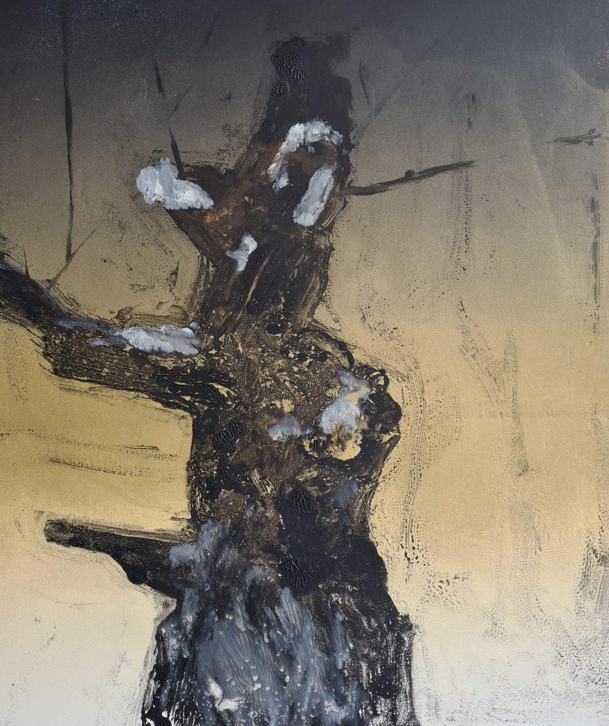 Stump #178, Monoprint, 36cm x 30cm