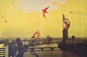 'Present', Silkscreen, 2000, 81cm x 152cm, £800 uf, 1 Edition of 10