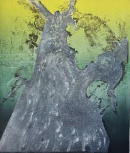 Stump #210 (Ghost), Monoprint, 36cm x 30cm