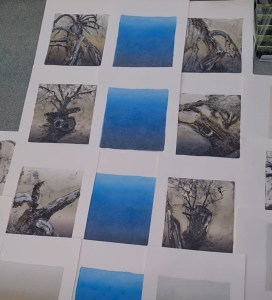 Layout for Monoprint Collage