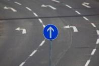 Straßenmarkierung,Straßenschild