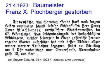 1923.Plochberger.Tod