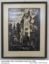 1986 - Georg Reitter.Holzschnitt Schulstiege