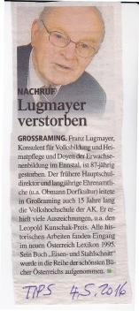 Tips.4.5.2016.Nachruf Lugmayer